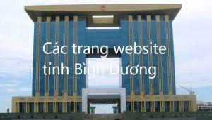 Các Trang Website Tỉnh Bình Dương