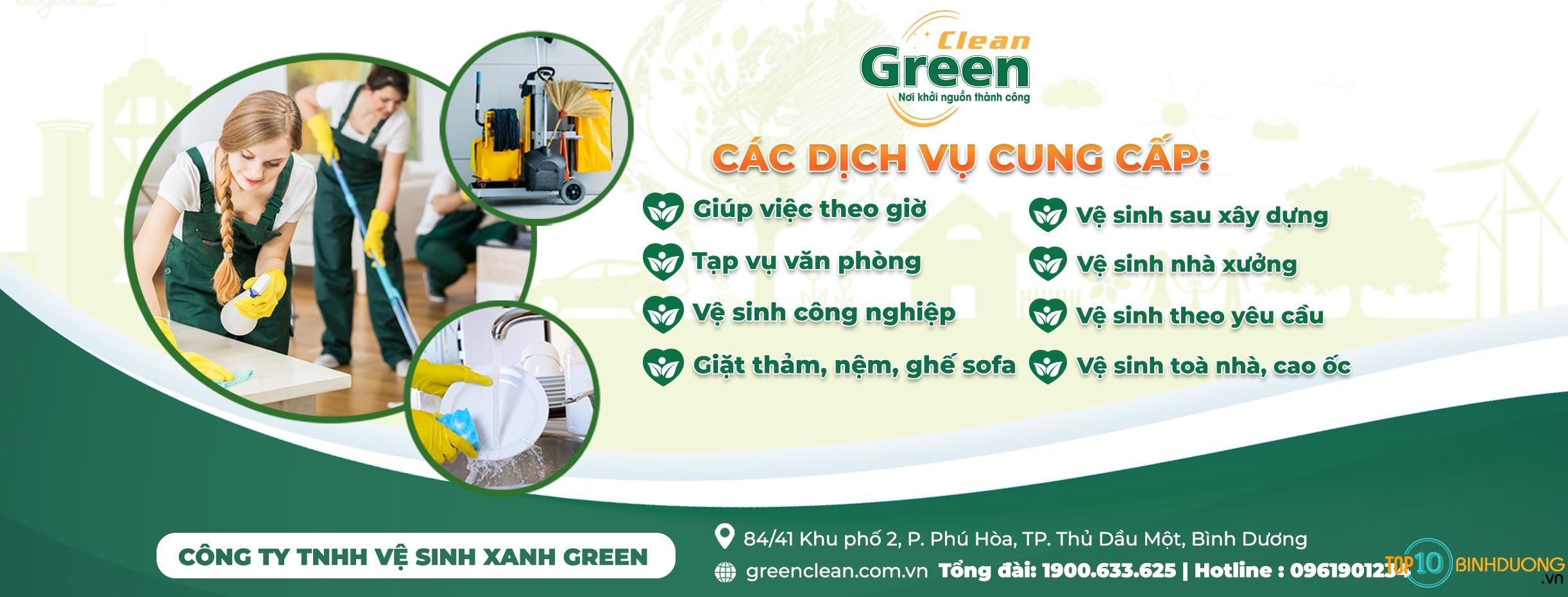 Công ty TNHH Vệ Sinh Xanh Green - TOP 10 Bình Dương