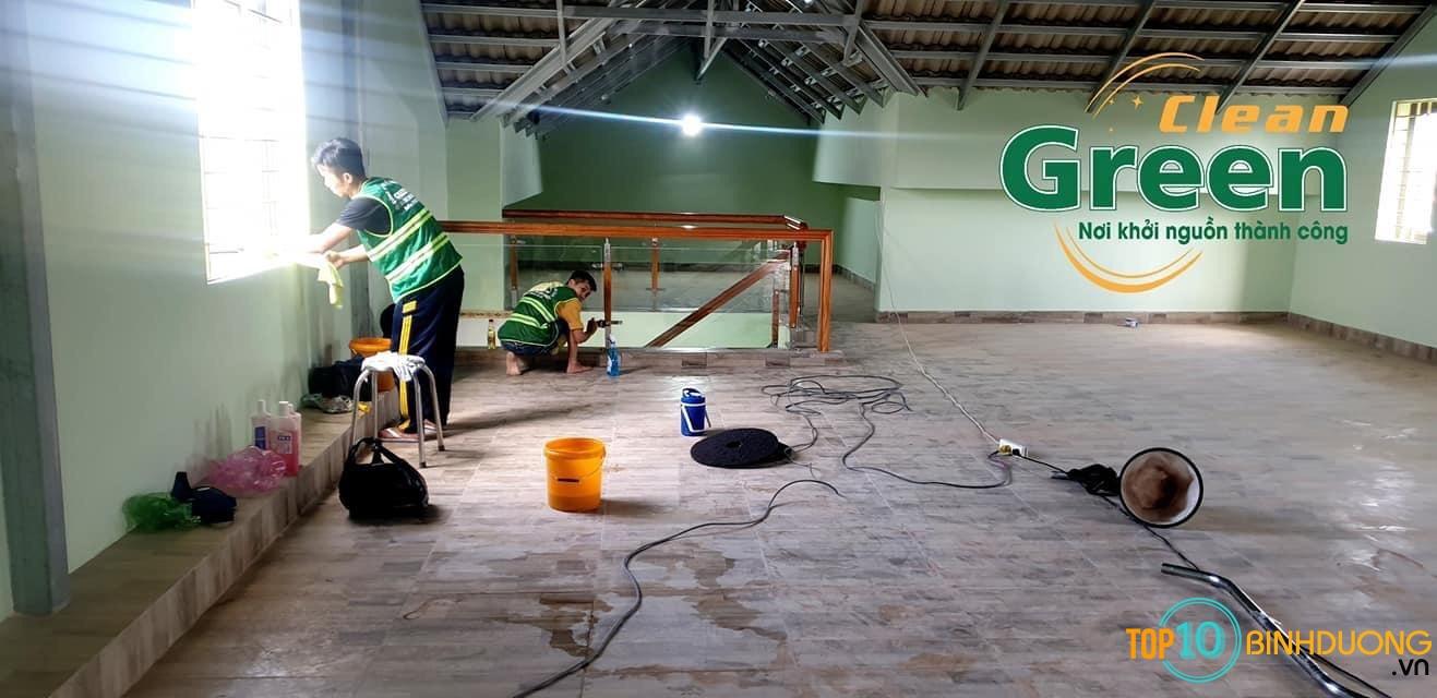 dịch vụ vệ sinh công nghiệp Green Clean